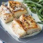 Pan Seared Cod with Tarragon Cream