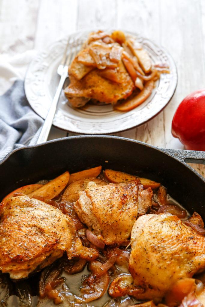 Onion Apple Chicken Thighs