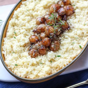 Caramelized Pearl Onion Couscous