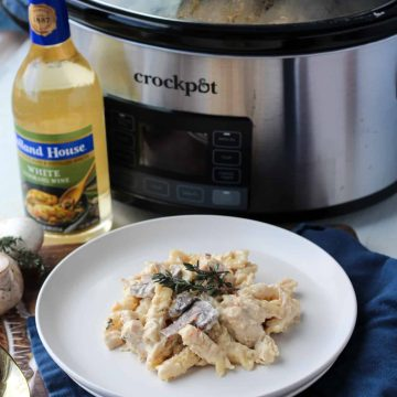 Creamy Crock-Pot Italian Chicken Pasta