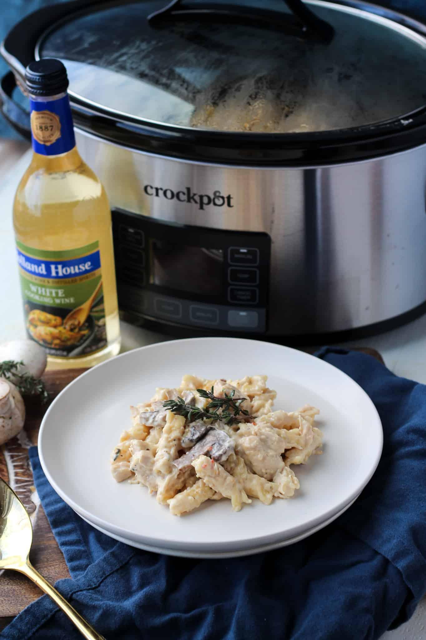 Creamy Crock-Pot Italian Chicken Pasta