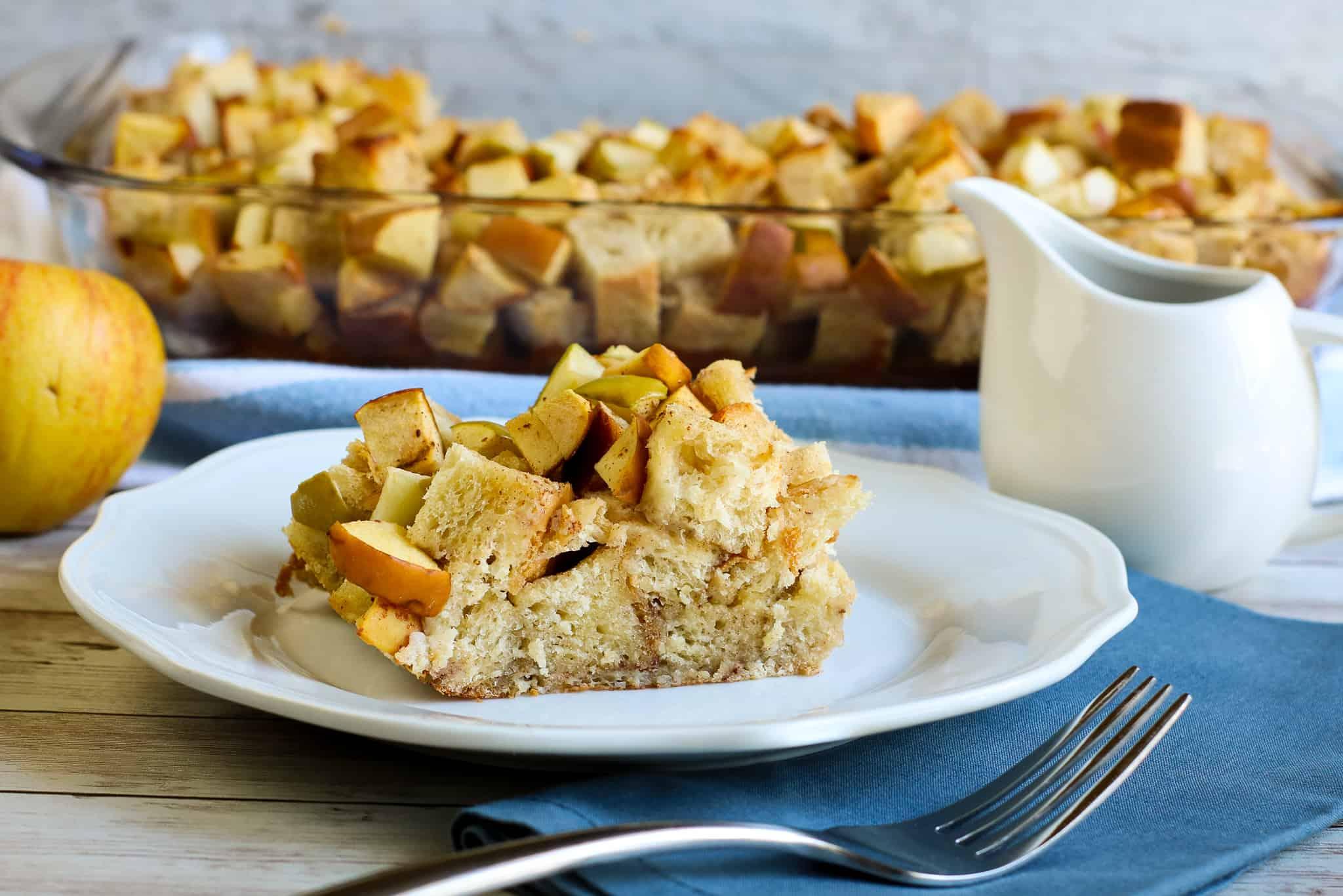 Apple Brioche French Toast Casserole