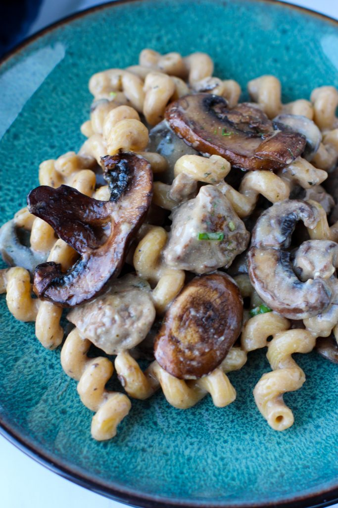 Creamy Mushroom and Steak Pasta