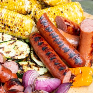 Grilled Sausage Grazing Board