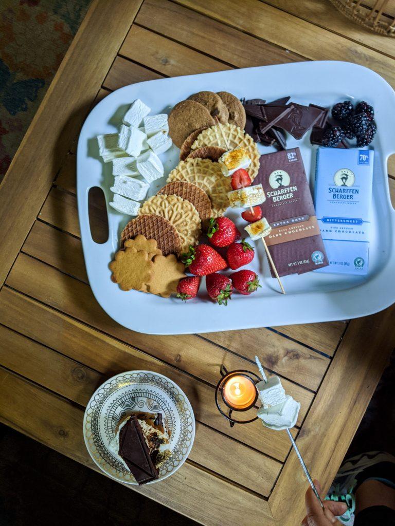 Gourmet S'mores Grazing Board